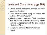 lewis and clark map page 284