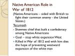 native american role in war of 1812