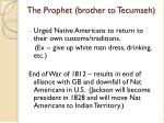 the prophet brother to tecumseh