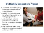 bc healthy connections project