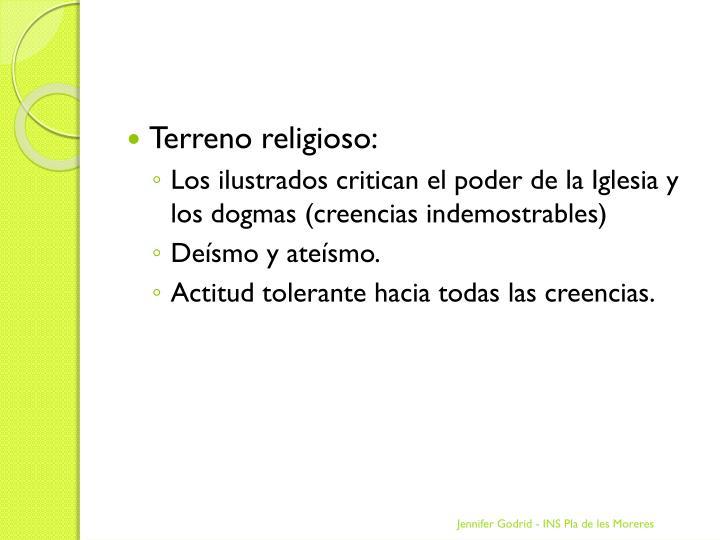 Terreno religioso: