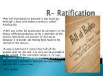 r ratification