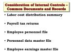 consideration of internal controls common documents and records3