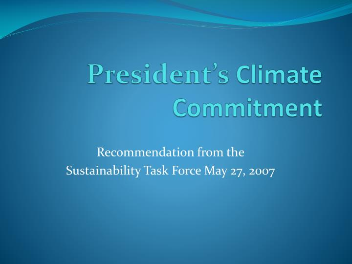 president s climate commitment n.