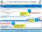 4 select appropriate expense template