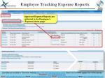employee tracking expense reports