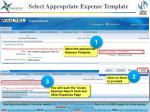 select appropriate expense template1