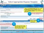 select appropriate expense template2