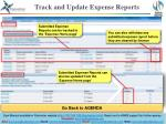 track and update expense reports