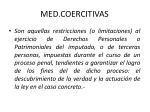 med coercitivas