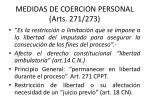 medidas de coercion personal arts 271 273