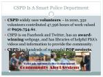 cspd is a smart police department