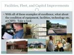 facilities fleet and capitol improvements