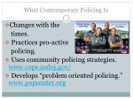 what contemporary policing is