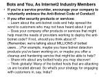bots and you as internet2 industry members