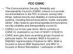 fcc csric