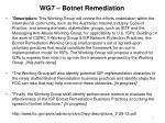 wg7 botnet remediation