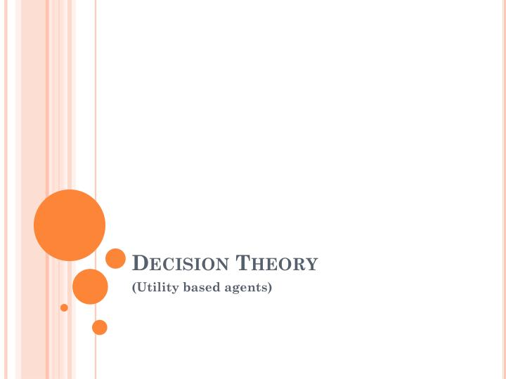 decision theory n.