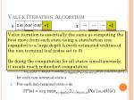value iteration algorithm2