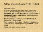 arthur shoppenhauer 1788 1860