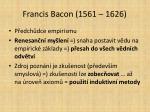 francis bacon 1561 1626