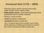immanuel kant 1724 1804