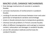 macro level damage mechanisms