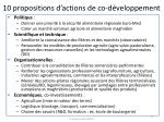 10 propositions d actions de co d veloppement
