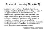 academic learning time alt