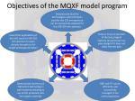 objectives of the mqxf model program