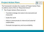 project action plans