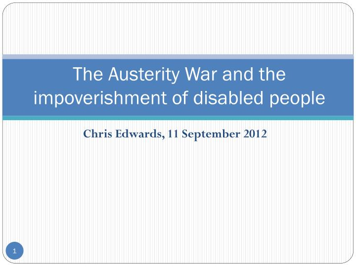 the austerity war and the impoverishment of disabled people n.