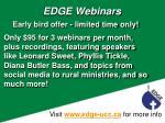 edge webinars