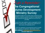 the congregational futures development ministry survey