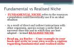 fundamental vs realised niche1