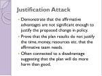 justification attack