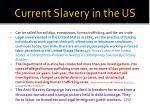 current slavery in the us