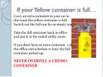 if your yellow container is full