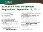 4vac50 60 final stormwater regulations september 13 2011