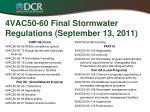 4vac50 60 final stormwater regulations september 13 20111