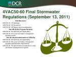 4vac50 60 final stormwater regulations september 13 20112