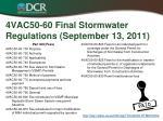4vac50 60 final stormwater regulations september 13 20113