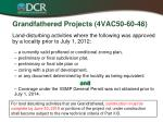 grandfathered projects 4vac50 60 481