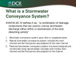 what is a stormwater conveyance system
