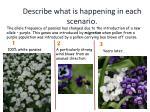describe what is happening in each scenario2