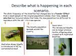 describe what is happening in each scenario4