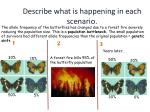 describe what is happening in each scenario6