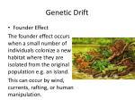 genetic drift7