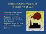 resources conservation and recovery act of 1976