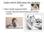 under which idea does this disability fit